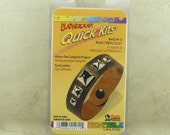 CLEARANCE Leathercraft Quick Kit Light Brown Pyramid Stud Leather Bracelet Tandy Leather Super Easy Beaded Braclet - I ship Internationally