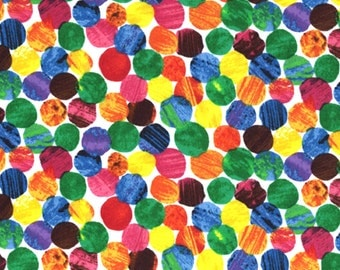 Andover The VERY HUNGRY CATERPILLAR Dots Multi Cotton 1/2 yard