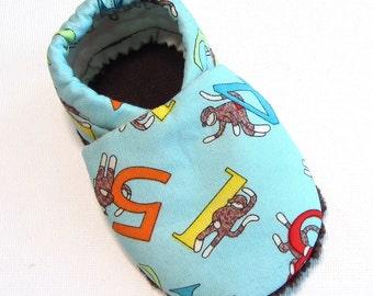 Funky Monkey Soft Soled Baby Shoes 12-18 mo