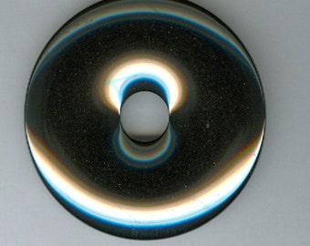 50mm Silver Gray Hematite Pi Donut Pendant Bead