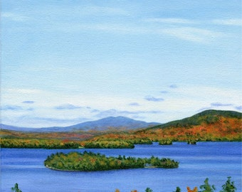 Art Print - Rangeley Lake in October #2