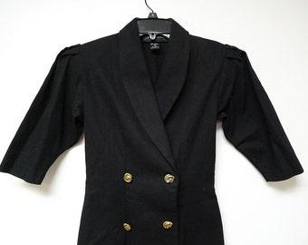 MISS NOTORIOUS .  vintage mini black dress . extra small . size 1