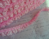 1/2 Inch Baby Pink Petite Lace Trim