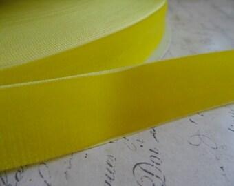 7/8 inch Key Lime Velvet Ribbon