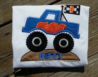 Monster Truck Shirt bodysuit T-shirt Embroidered All sizes Birthday