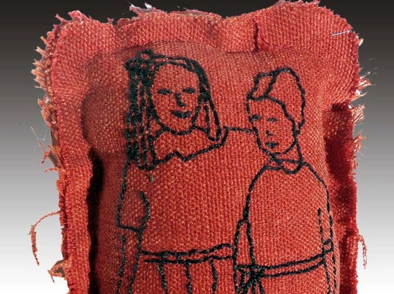 Stitched Fabric Sculpture Inspired by Vintage Photo