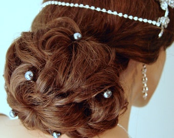 Gray Pearl Hair Pins Wedding Bridal Hairpins Wedding Hair Pins Pearl Pins