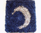 Silk Storage Bag - Celestial Table Rug Pouch - Crescent New Moon - Keeper of dreams
