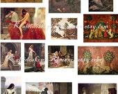 Dollhouse Miniature Paintings Medieval Art - Printable Digital