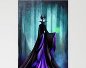 Maleficent Disney Greeting Card - Sleeping Beauty Evil Queen - Blank Inside