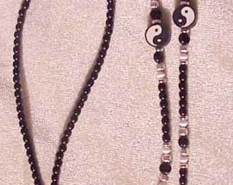 Yin Yang Beaded Eyeglass Chain