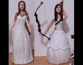 Custom Same Sex Zombie Hunters Wedding Cake Toppers Figure set - Personalized from your Photos