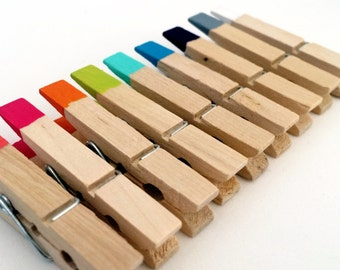 Hand Painted Clothespins - set of 10