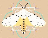 Saltmarsh Moth Cross stitch pattern PDF