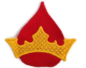 Blood Crown HP Patch interpreted Magic Wizard Blood Drop with Prince Crown