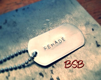 remade dog tag necklace free shipping