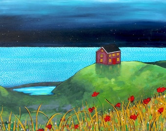 Red House, Nova Scotia, ocean Seascape Print Shelagh Duffett