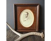 Antique Photo Portrait of Handsome Man Framed - Oval -