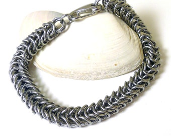 Men's Stainless Steel Box Chain Chainmaille Bracelet