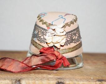 Antique doll hat  handmade