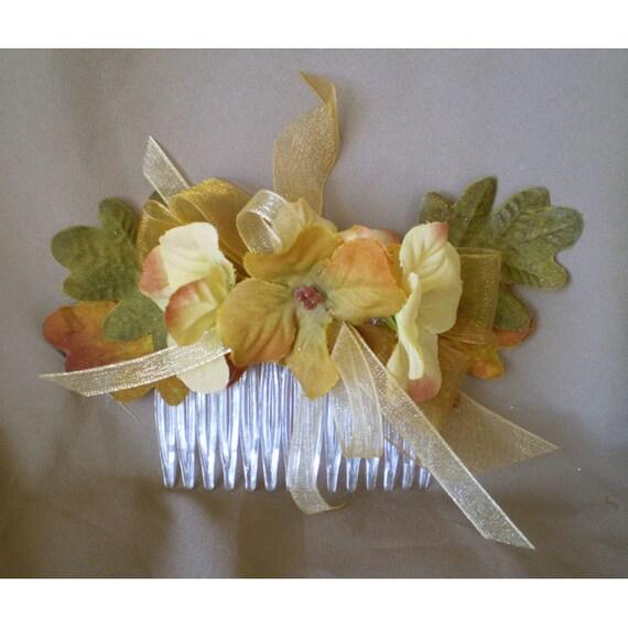 Autumn floral hair comb women's accessory bridal hair flowers