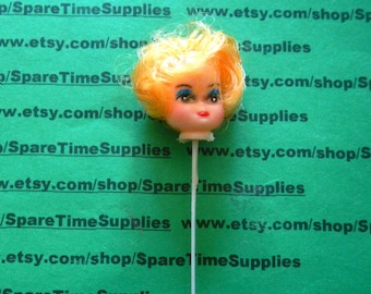 "Darice - 12147-2   Curly Hair Doll Head - 1"" - blonde - 1 pc"