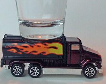 The ORIGINAL Hot Shot, Peterbilt Tanker Truck, Flames, Hot Wheel