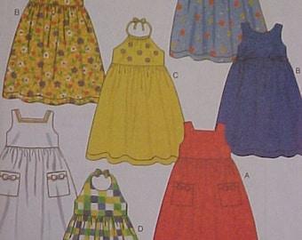 NEW LOOK Pattern Girls Summer Dress 3 to 8