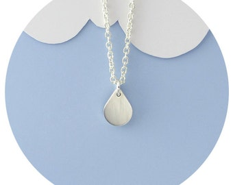Raindrop Necklace / Sterling Silver Rain Droplet Necklace Handcrafted by Ginny Reynders - Made in Australia