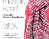 Scarf Knitting Pattern - Pueblo Mosaic Scarf - Instant Download PDF Pattern to Knit