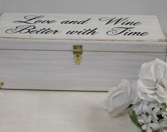 Wedding Wine Box, Wine Box, Wedding Gift, Anniversary Gift, Custom Wine Box, Wine Ceremony, Rustic Shabby Chic Weddings, Country style