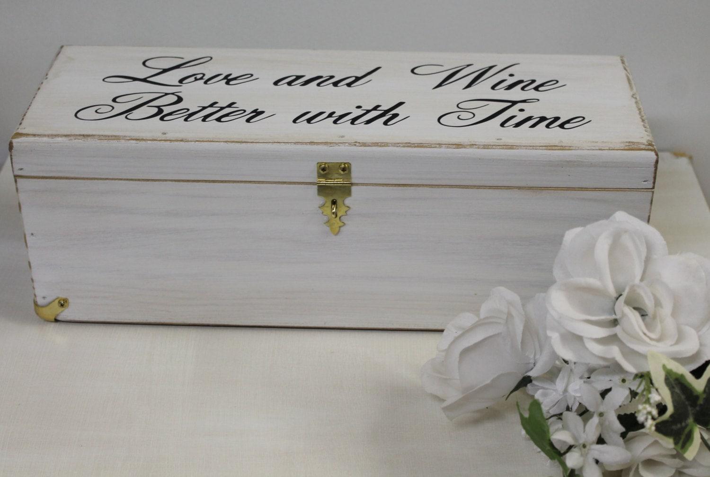 Wedding Wine Box Rustic Keepsake Love Letter Personalized Gift