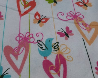 Birds and Hearts Baby Blanket