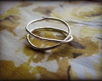 Infinity Ring - Sterling Silver - Finger Rustic Eternity Symbol - Gift Birthday Anniversary Best Friend Sister Mother Cousin Daughter