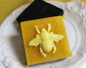 Honey Bee Soap Bar - Honey Comb, Yellow, Buzz, Honey Scented, Insect, Garden, Textured Soap Bar, Animal Soap, Party Favors, Black, Kids