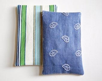 Nautical Pair of Organic Lavender Sachets / fragrance sachet / drawer sachet / dryer sachet chemical free / beach house coastal blue stripes