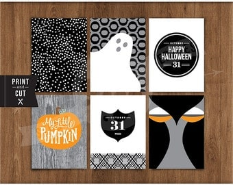 "3""x 4"" Printable Simply Spooky Journal Cards by Studio Pebbles"