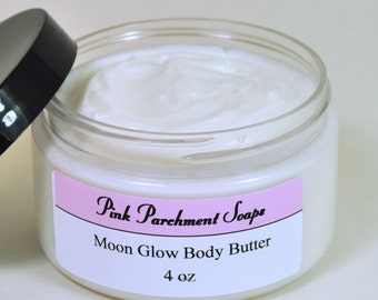 Moon Glow Body Butter - Whipped Body Butter Made with Shea Butter and Cocoa Butter - Valentine's Day Gift
