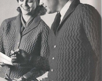 Men's Shawl Collar Cardigan Pattern 2 (MenBern)