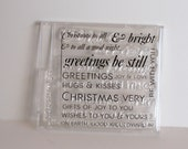 Christmas clear stamps, PTI stamps, Christmas stamps, Christmas word stamps, Papertrey ink stamps