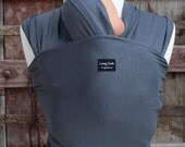 Baby Wrap-ORGANIC BAMBOO-LIGHTWEIGHT Baby Wrap/Sling Carrier- Gray-Newborn to Toddler-DvD Included