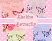 Buy 1 Get 1 FREE Vintage Butterfly Rose Shabby Ephemera Tag Clipart Scrapbooking Digital Graphics Instant DOWNLOAD