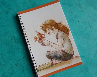 Weekends with Archibald Spiral Notebook - Reading with Dragon Blank Sketchbook
