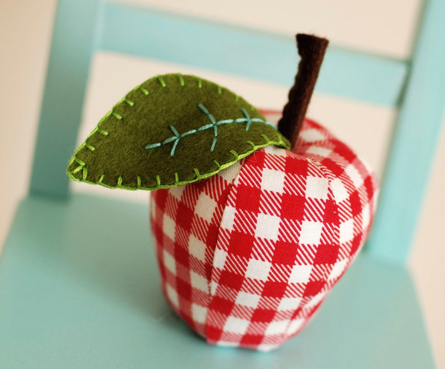 Pdf Sewing Pattern For Scrappy Apple Pincushion And Ornament