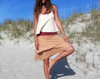Organic Vinyasa Short Skirt ( organic tissue cotton ) - organic skirt