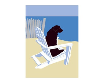 Sea Dog greeting card