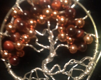Tree of Life-Sterling, Copper, Tiger Eye