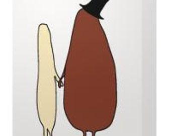 Bean and Rice Blank Card