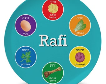 Personalized Children's Seder Plate for Passover Pesach