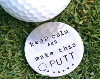 Personalized golf ball marker. Custom stamped for the golfer. Gift for husband or dad